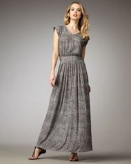 rebecca taylor snake maxi