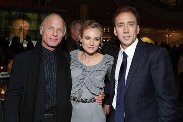 Ed Harris , Diane Kruger and Nicolas Cage at the New York City premiere of Walt Disney Pictures' National Treasure: Book of Secrets