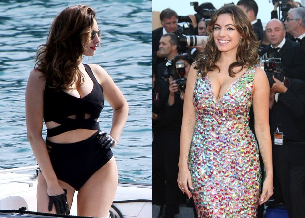 Kelly Brook, swimsuit, red carpet, Cannes Film Festival