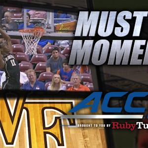 Wake Forest's Greg McClinton Skies For Alley-Oop | ACC Must See Moment