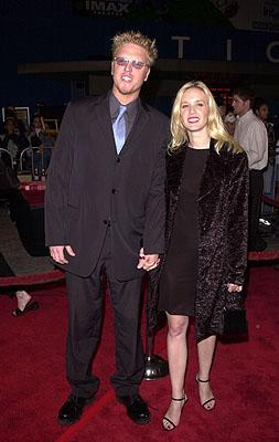 Jake Busey and galpal at the LA premiere for Columbia's Tomcats