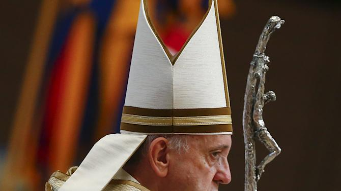Pope Francis arrives to lead a mass marking World Day of Prayer for the Care of Creation in Saint Peter's Basilica at the Vatican