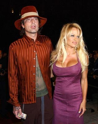 Tommy Lee and Pamela Anderson at the LA premiere of Dimension's Scary Movie 3