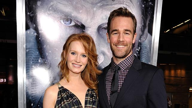 The Grey LA Premiere 2012 Kimberly Brook James Van Der Beek