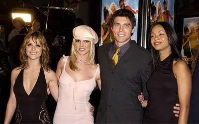 Premiere: Taryn Manning, Britney Spears, Anson Mount and Zoe Saldana at the Hollywood premiere for Paramount's Crossroads - 1/11/2002