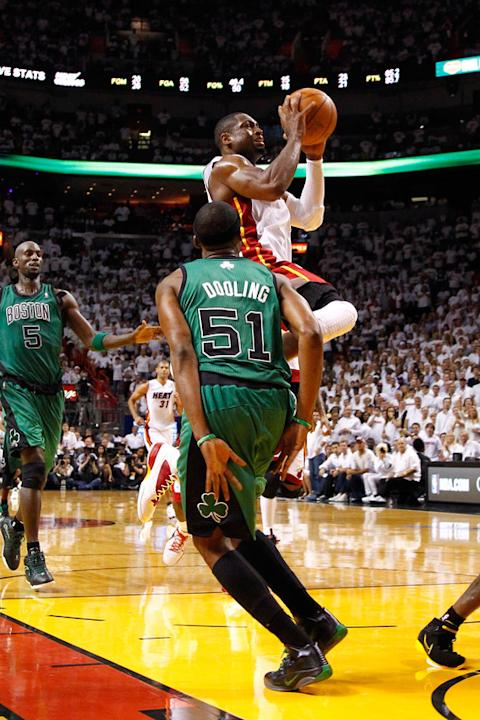 Dwyane Wade #3 Of The Miami Heat Drives Getty Images