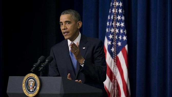 President Barack Obama speaks about the new health care law during a White House Youth Summit, Wednesday, Dec. 4, 2013, in the South Court Auditorium in the Eisenhower Executive Office Building on the White House complex in Washington. (AP Photo/ Evan Vucci)