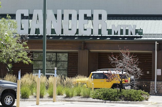 `The Gander Mountain store in Aurora, Colo. is shown, Sunday, July 22, 2012. The is store is where the gunman in Friday&#39;s movie theater shooting allegedly purchased one of his weapons. (AP Photo/Ted S. Warren)