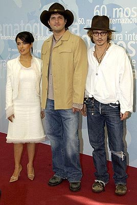 Salma Hayek, Robert Rodriguez, Johnny Depp Once Upon a Time in Mexico Venice Film Festival - 8/28/2003