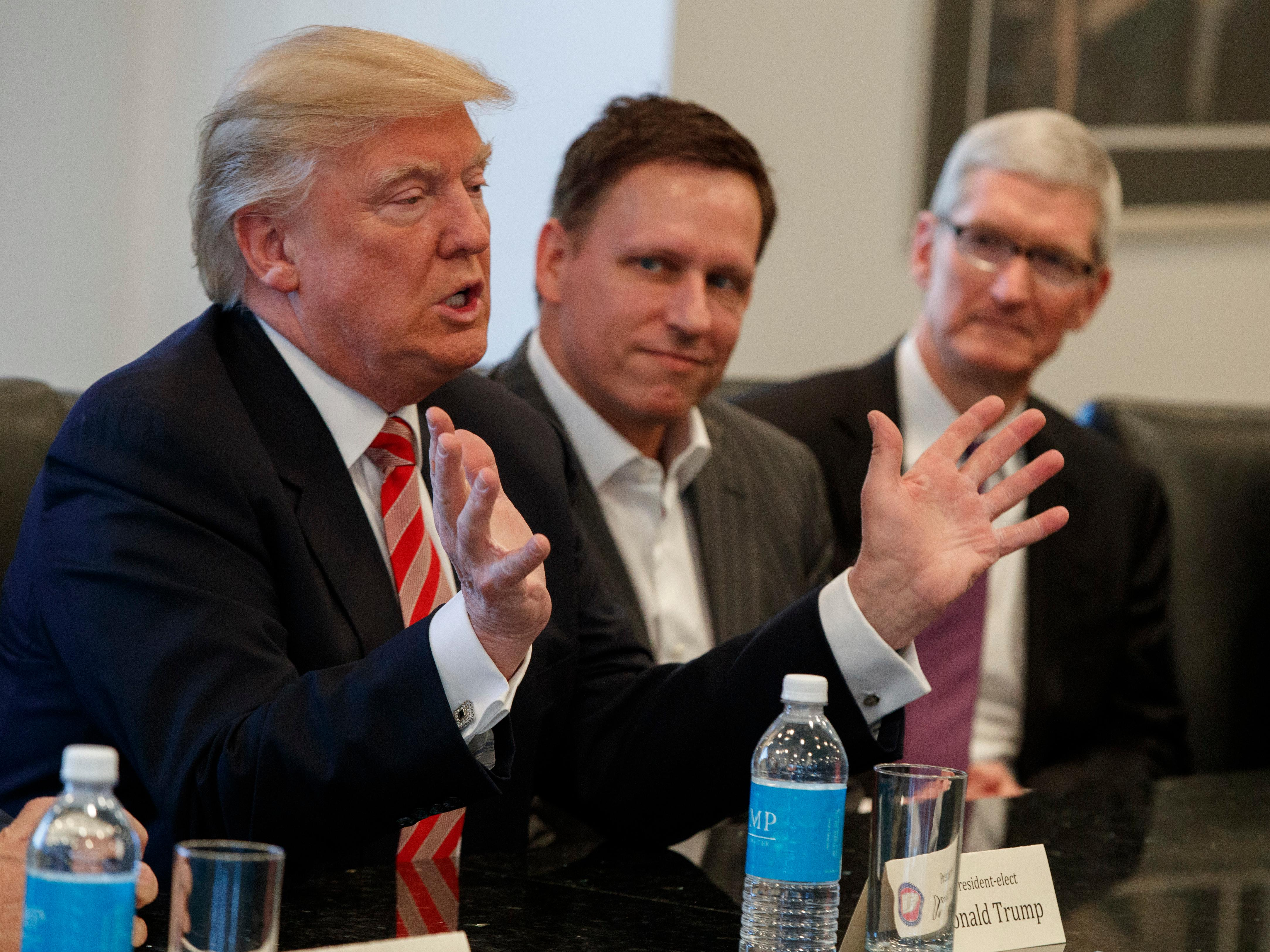 Trump: Apple's CEO has 'his eyes open' to manufacturing in US