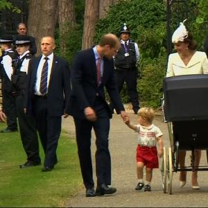 Raw: Royal Family Gathers for Christening