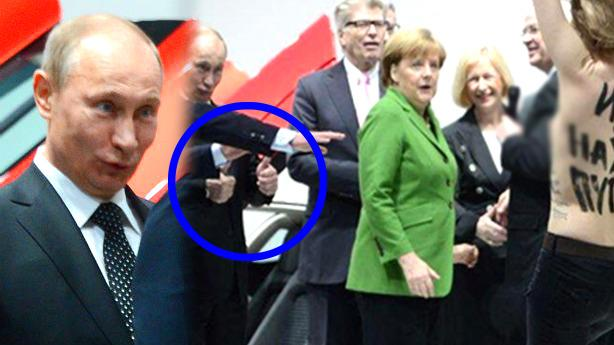 """Putin Gives Topless Protester Two Thumbs-Up: """"I Liked It"""""""