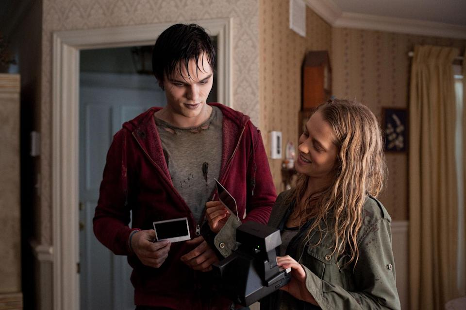 "This film image released by Summit Entertainment shows Nicholas Hoult, left, and Teresa Palmer in a scene from ""Warm Bodies."" (AP Photo/Summit Entertainment, Jonathan Wenk)"