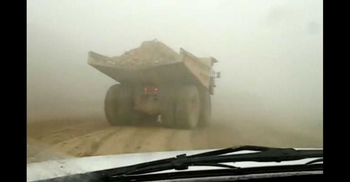 Scary Mining Truck Loses Control!