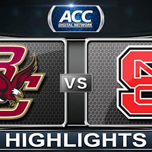 Boston College vs NC State | 2014 ACC Basketball Highlights