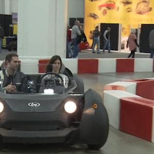 Taking a test drive in a 3D-printed car