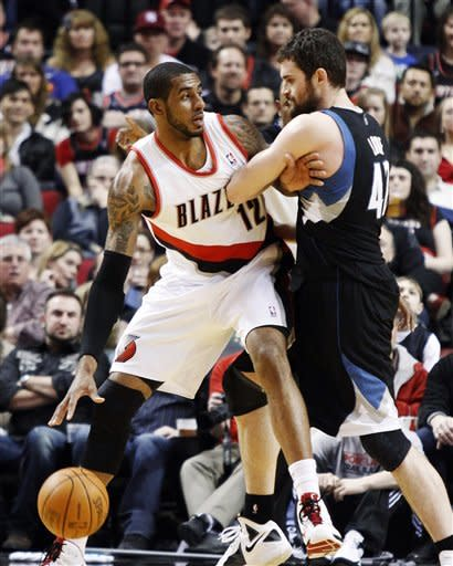 Love has 42 in Wolves' 122-110 win over Blazers
