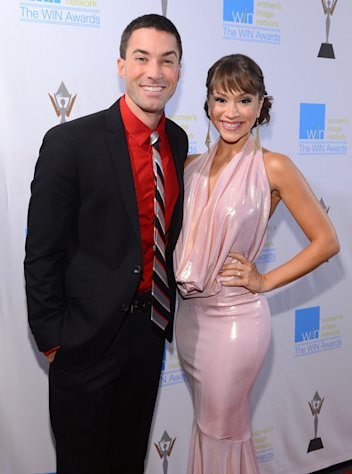 Ace Young and Diana DeGarmo presented at the 14th Annual Women's Image Awards in Hollywood on December 12, 2012.