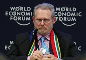South African Minister of Trade and Industry Davies attends a session at the World Economic Forum in Davos