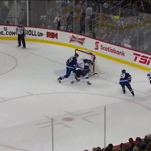 Michael Hutchinson Save on Dwight King (11:38/3rd)