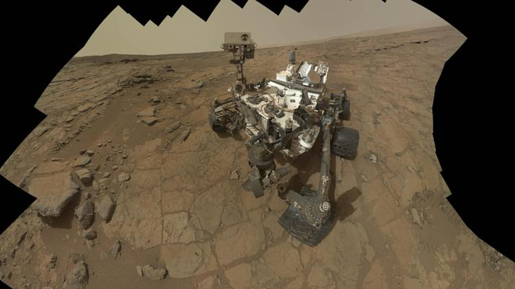 This Feb 3, 2013 image provided by NASA shows a self portrait of the Mars rover, Curiosity. NASA's Curiosity rover has uncovered signs of an ancient freshwater lake on Mars that may have teemed with microbes for tens of millions of years, far longer than scientists had imagined, new research suggests.(AP Photo/NASA)