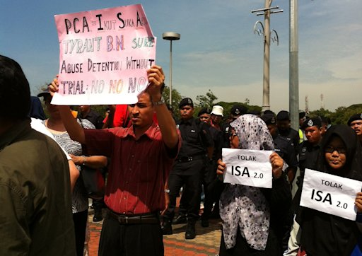 Outside Parliament, activist groups protest 'draconian' PCA changes
