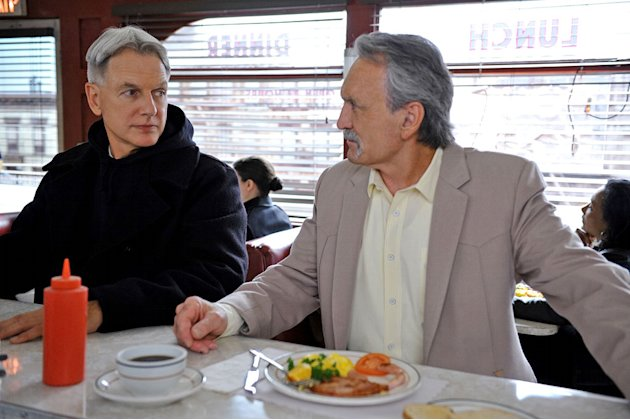 Mark Harmon as Special Agent Leroy Jethro Gibbs and Muse Watson as Mike Franks in the 200th episode of &quot;NCIS&quot; titled, &quot;Life Before His Eyes.&quot; 