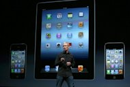 "Apple CEO Tim Cook speaks during an Apple special event at the Yerba Buena Center for the Arts in San Francisco, California. Cook called the launch ""the biggest thing to happen to iPhone since the iPhone."""