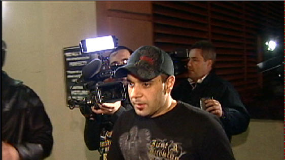 "FILE - This Jan. 31, 2008 video frame grab release by AP Television shows Sam Lutfi leaving UCLA medical center after visiting Britney Spears in Los Angeles. Testimony is scheduled to begin on Tuesday, Oct. 16, 2012, in a libel, defamation and breach of contract case filed against Spears and her parents by the singer's former confidante and manager, Osama ""Sam"" Lutfi. He is seeking a share of Spears' fortune and claims he has was unfairly vilified by the singer's mother in her 2008 book, which accused Lutfi of drugging and isolating the pop star before she had to be hospitalized. (AP Photo/APTN, File)"