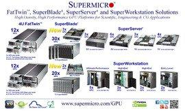 Supermicro® Leads Industry with Broadest Line of GPU Server and Workstation Solutions Delivering up to 256 TFLOPS in 42U Rack
