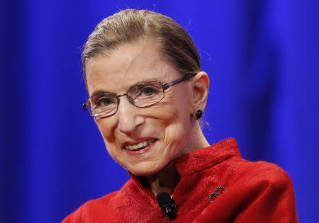 File of U.S. Supreme Court Justice Ginsburg attends the lunch session of The Women's Conference in Long Beach