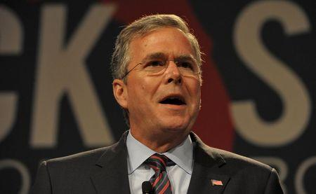 Republican presidential hopeful Bush, the former governor of Florida, addresses an economic summit in Orlando