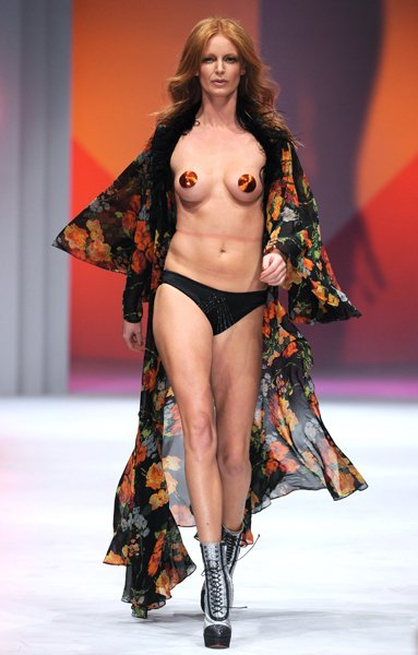 Olivia Inge on the Lingerie London catwalk © Rex