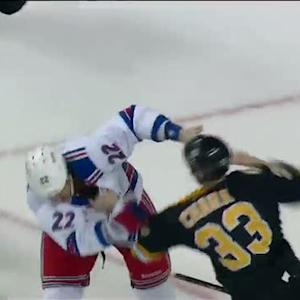 Brian Boyle and Zdeno Chara scrap