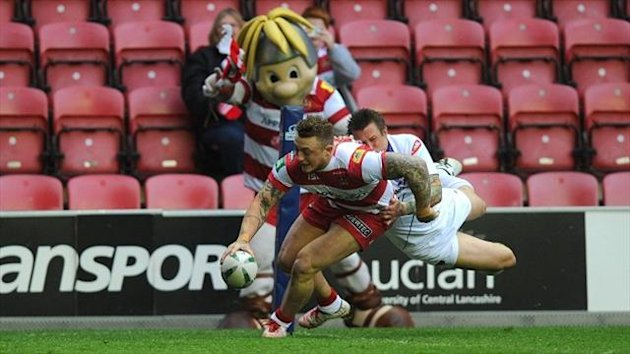Josh Charnley scored a brace of tries as Wigan defeated Salford