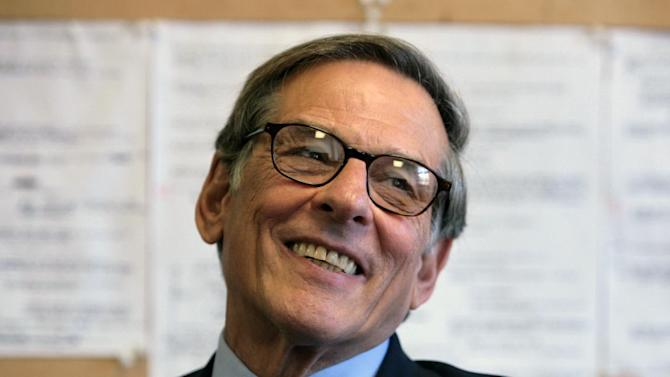FILE - In this Aug. 20, 2008 file photo, author and biographer Robert Allan Caro smiles during an interview in New York. Caro, Stephen King and Nora Roberts are among the hundreds of authors who have added their names to an online letter criticizing Amazon.com for restricting access to works published by Hachette Book Group.(AP Photo/Bebeto Matthews, file)
