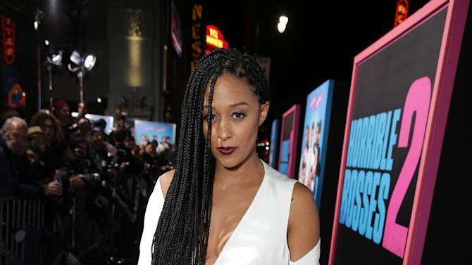 """Tia Mowry seen at the Los Angeles Premiere of New Line Cinema's """"Horrible Bosses 2"""" on Thursday, Nov 20th, 2014, in Los Angeles. (Photo by Eric Charbonneau/Invision for Warner Bros./AP Images)"""