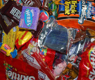 A pile of Halloween candy.