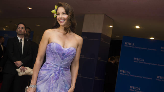 Ashley Judd attends the 2015 White House Correspondents' Association Dinner at the Washington Hilton Hotel on Saturday, April 25, 2015, in Washington. (Photo by Charles Sykes/Invision/AP)