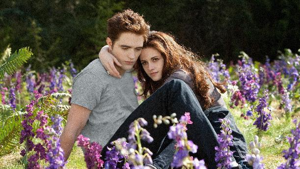 """This film image released by Summit Entertainment shows Robert Pattinson, left, and Kristen Stewart in a scene from """"The Twlight Saga: Breaking Dawn Part 2."""" (AP Photo/Summit Entertainment, Andrew Cooper)"""