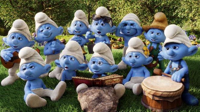 "This publicity image released by Sony Pictures Animation shows a scene from the film ""Smurfs 2."" (AP Photo/Sony Pictures Animation)"