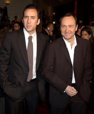 Nicolas Cage and Kevin Spacey at the LA screening of Universal's The Life of David Gale