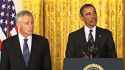 Obama: Hagel Is 'Leader Our Troops Deserve'