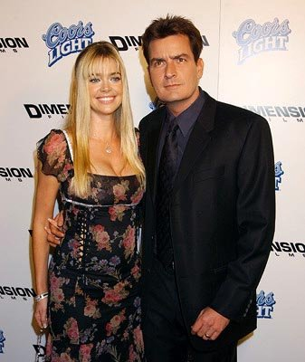 Premiere: Denise Richards and Charlie Sheen at the LA premiere of Dimension's Scary Movie 3 - 10/20/2003 