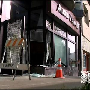 Car Slams Into SF Electronic Store, Steals $30K Worth Of Equipment