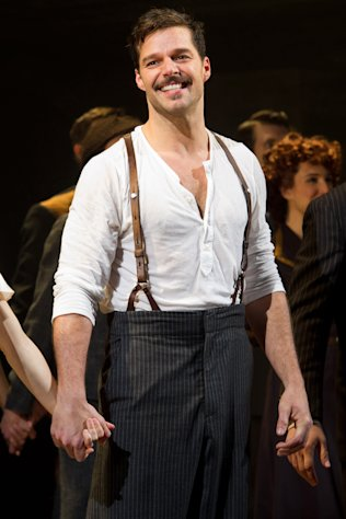 "FILE - In this March 12, 2012 file photo, Ricky Martin appears at the curtain call after his first performance in the new Broadway production of ""Evita"", in New York. (AP Photo/Charles Sykes, file)"