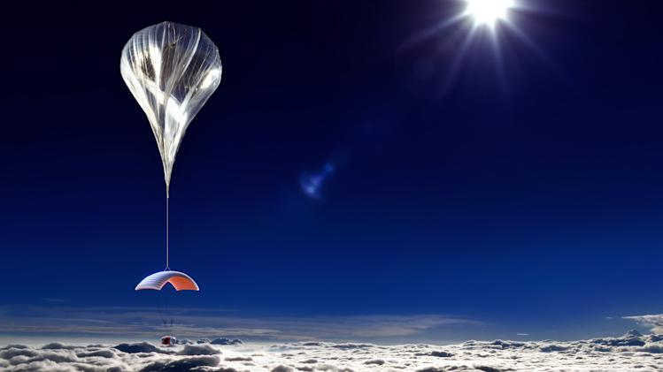 A new idea for space tourism: Balloon over rocket