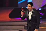 Jed Madela got the Male Recording Artist of the Year award during the 4th PMPC Star Awards for Music held at the Meralco Theater in Pasig city on 09 September 2012. (George Calvelo/NPPA Images)