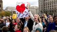 Fans young and old gathered in Liverpool on Friday for a world record-setting sing-along of Love Me Do, part of a yearlong series of events celebrating the Beatles.