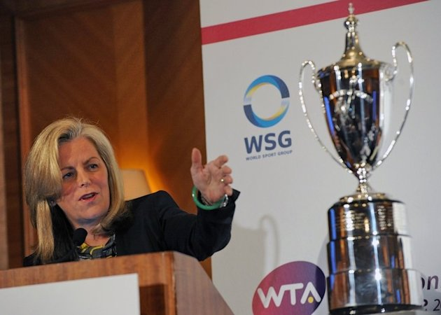 Stacey Allaster, Chairman and CEO of WTA, pictured in Singapore, on May 8, 2013